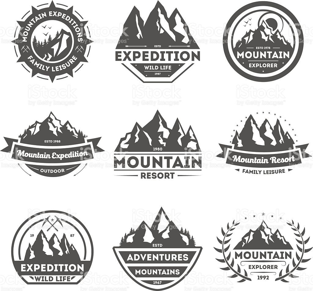 Mountain explorer vintage isolated label vector illustration Family