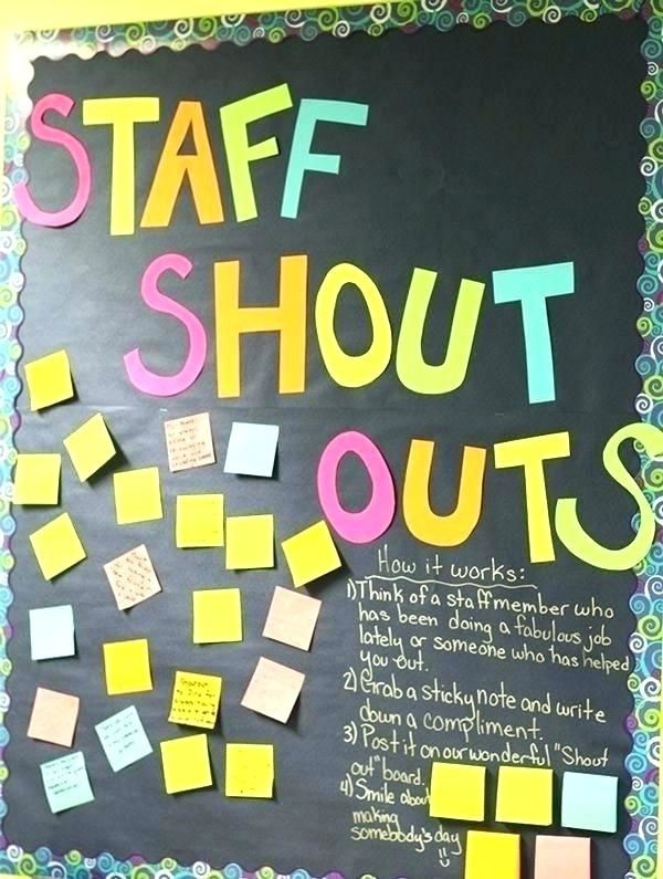 Back To School Bulletin Board Decoration Ideas Teacher Appreciation Week Teacher Morale Staff Appreciation