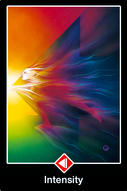 """Daily Angel Oracle Card: Knight of Fire ~ Intensity, from the Osho Zen Tarot, by Osho, illustrated by Ma Deva Padma Knight of Fire ~ Intensity: """"The figure in this card has taken on the shap..."""