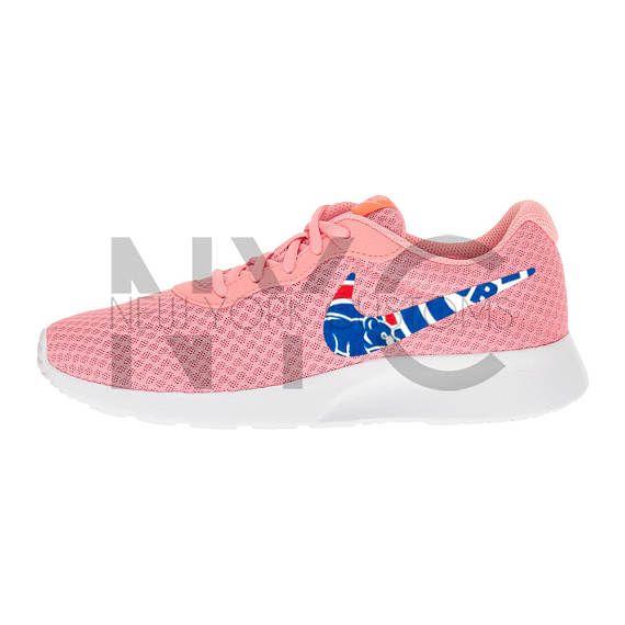 Chicago Cubs 16' Nike Tanjun Lava Glow Pink / White / Grey Custom Women