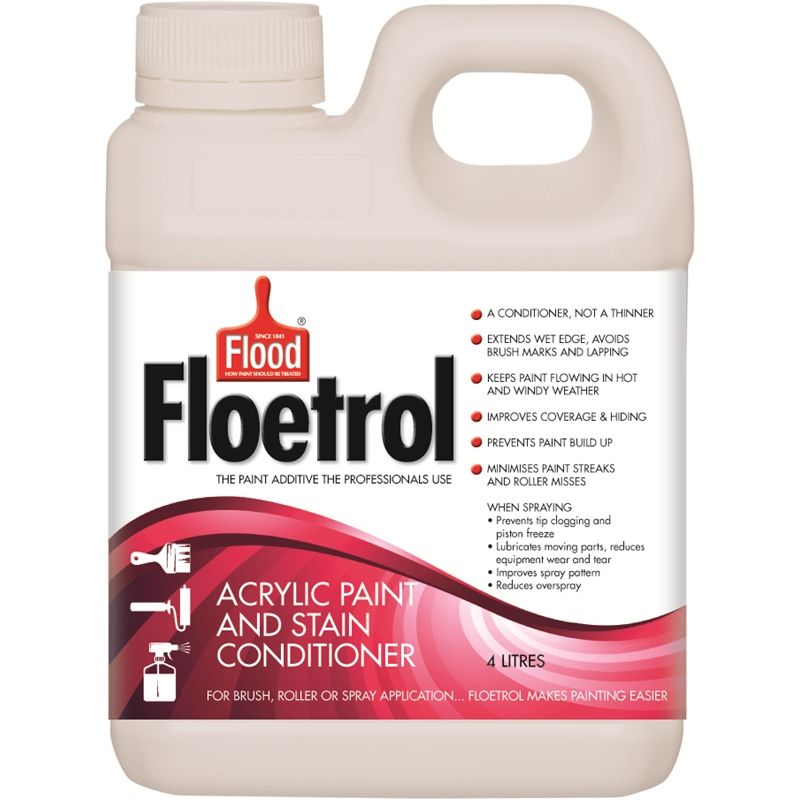 Find Flood 4l Floetrol Acrylic Paint And Stain Conditioner At Bunnings Warehouse Visit Your Local Paint Additive Acrylic Pouring Techniques How To Make Paint