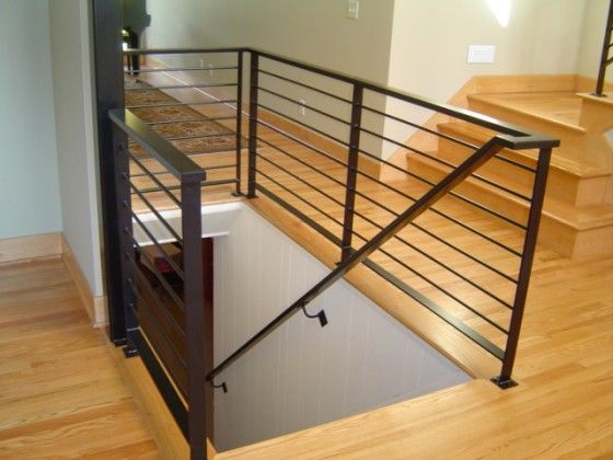 Best Image Gallery Horizontal Metal Railings Staircase 400 x 300