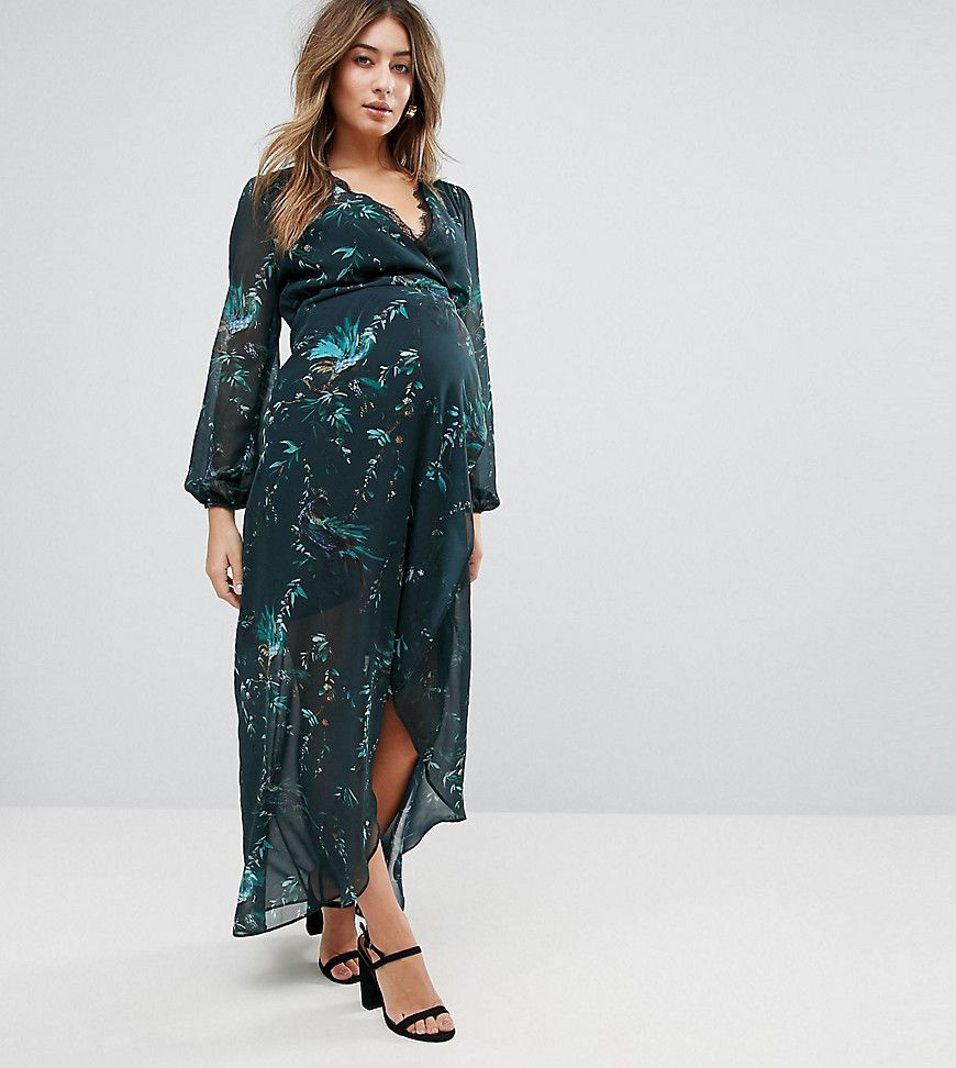 Hope ivy maternity long sleeve wrap detail floral maxi dress hope ivy maternity long sleeve wrap detail floral maxi dress multi ombrellifo Image collections