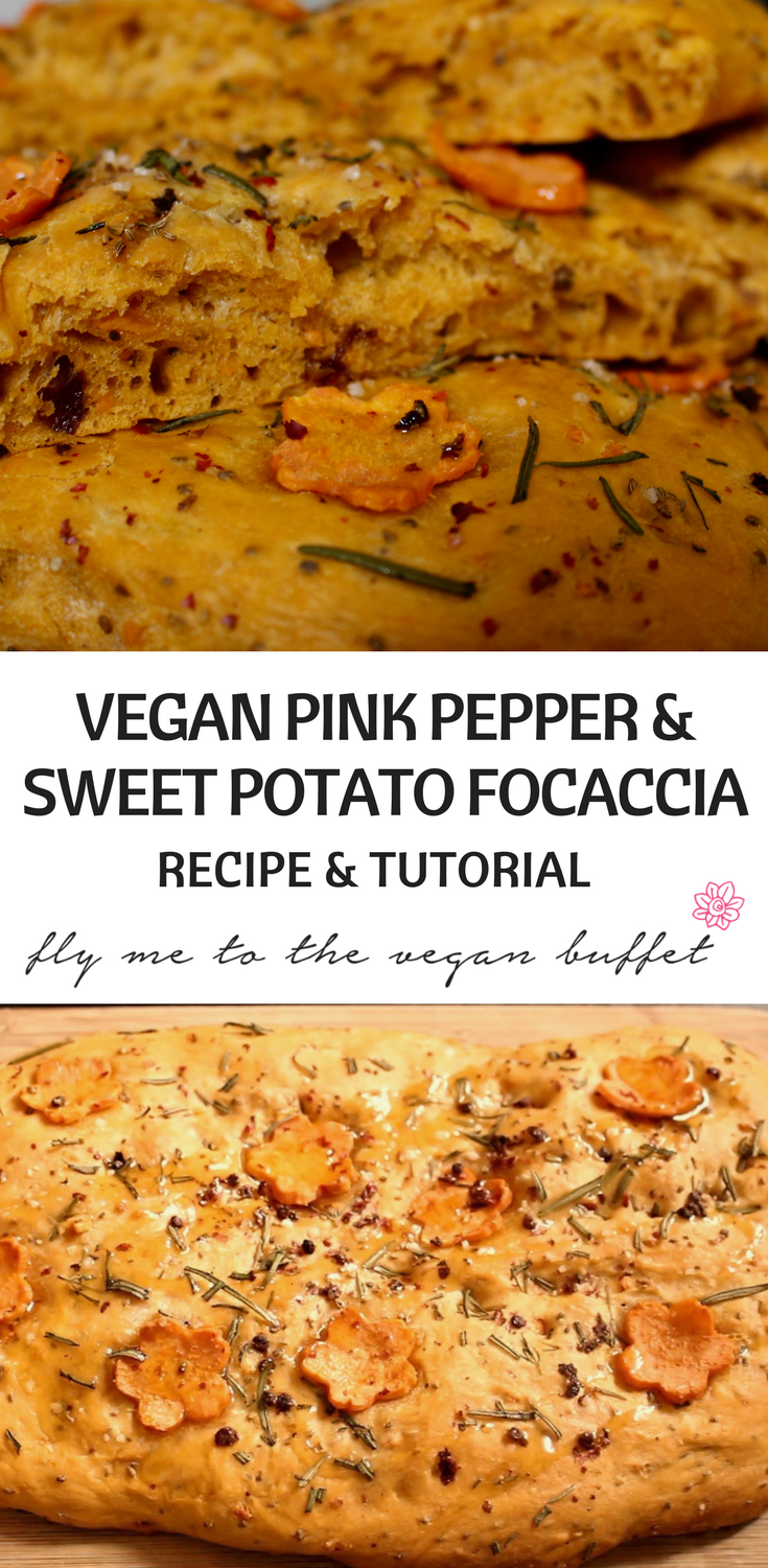Pink Pepper Sweet Potato Focaccia