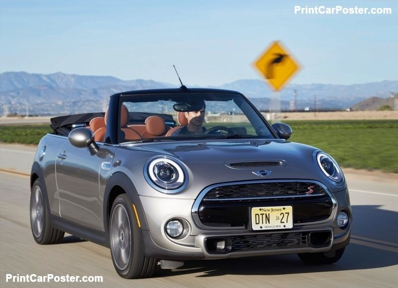 Mini Cooper S Convertible 2016 Poster Convertible
