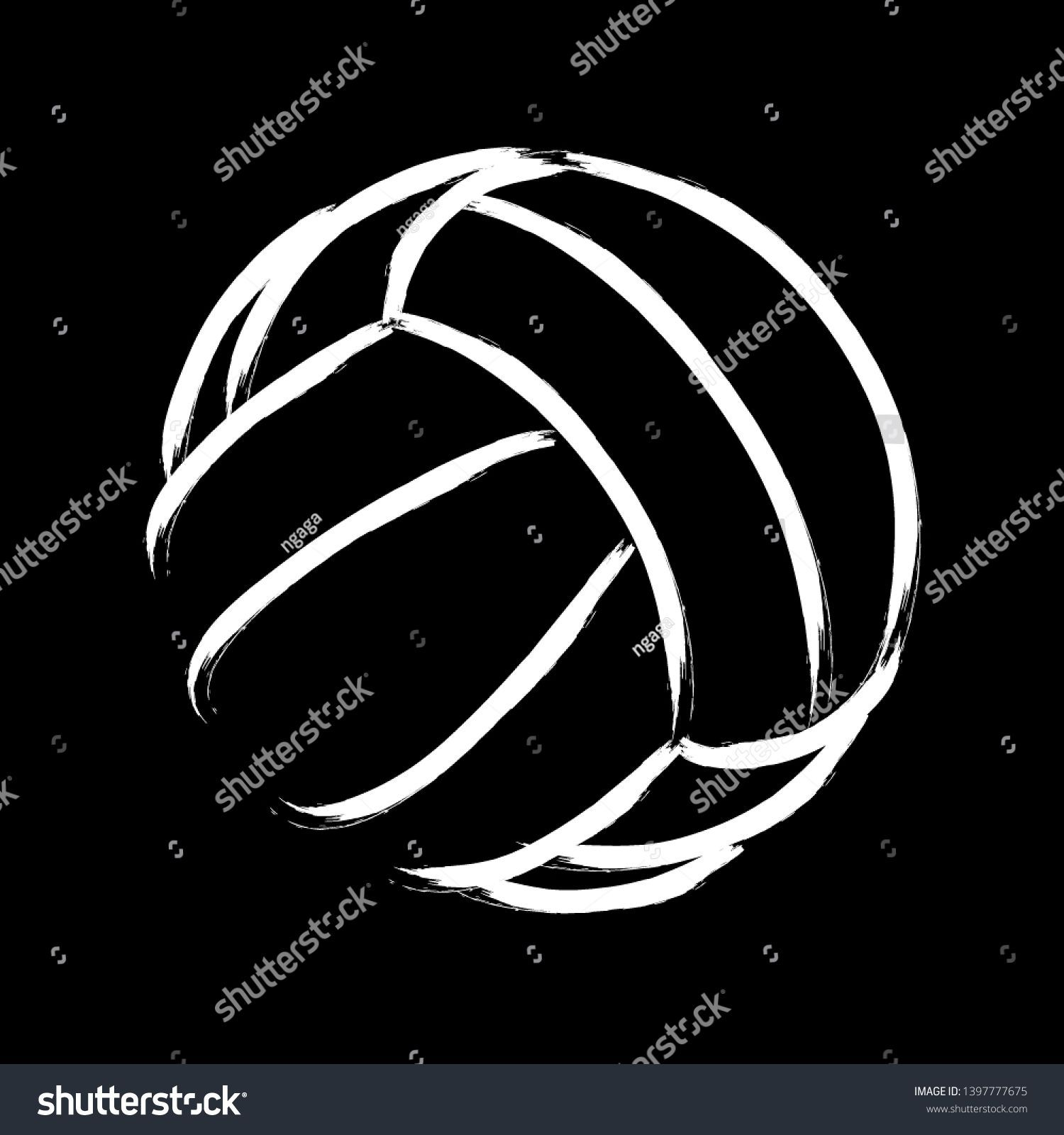Stylized Illustration Hand Drawing Volleyball Background Stock Vector Royalty Free 1397777675 In 2020 How To Draw Hands Stylized Volleyball Backgrounds
