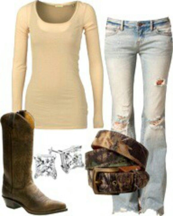 Cowboy Boots Girl Outfits