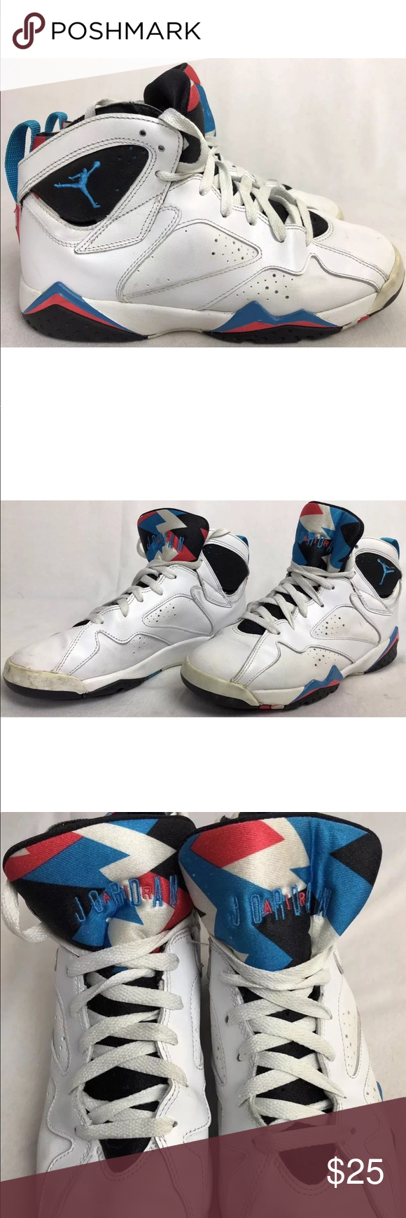 0033717159db12 Nike Air Jordan 7 VII Womens 8.5 or youth 7 shoes You are buying a pair  Nike Air Jordan 7 VIII Youth Shoes Color White Black Blue Pink Size 7 Youth  or ...