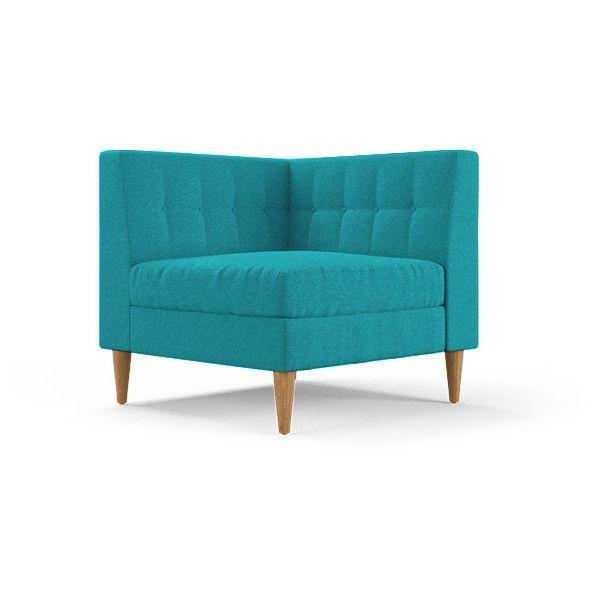 Elegant Korver Mid Century Modern Blue Corner Chair $899 ❤ liked on Polyvore featuring home HD - Inspirational modern blue chair For Your Home