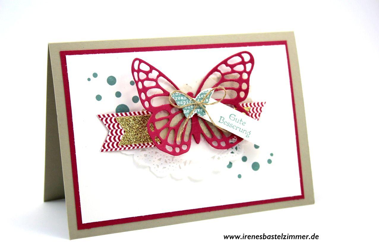 Gute Besserung Eine Schone Grua Karte Mit Schmetterlingen Birthday