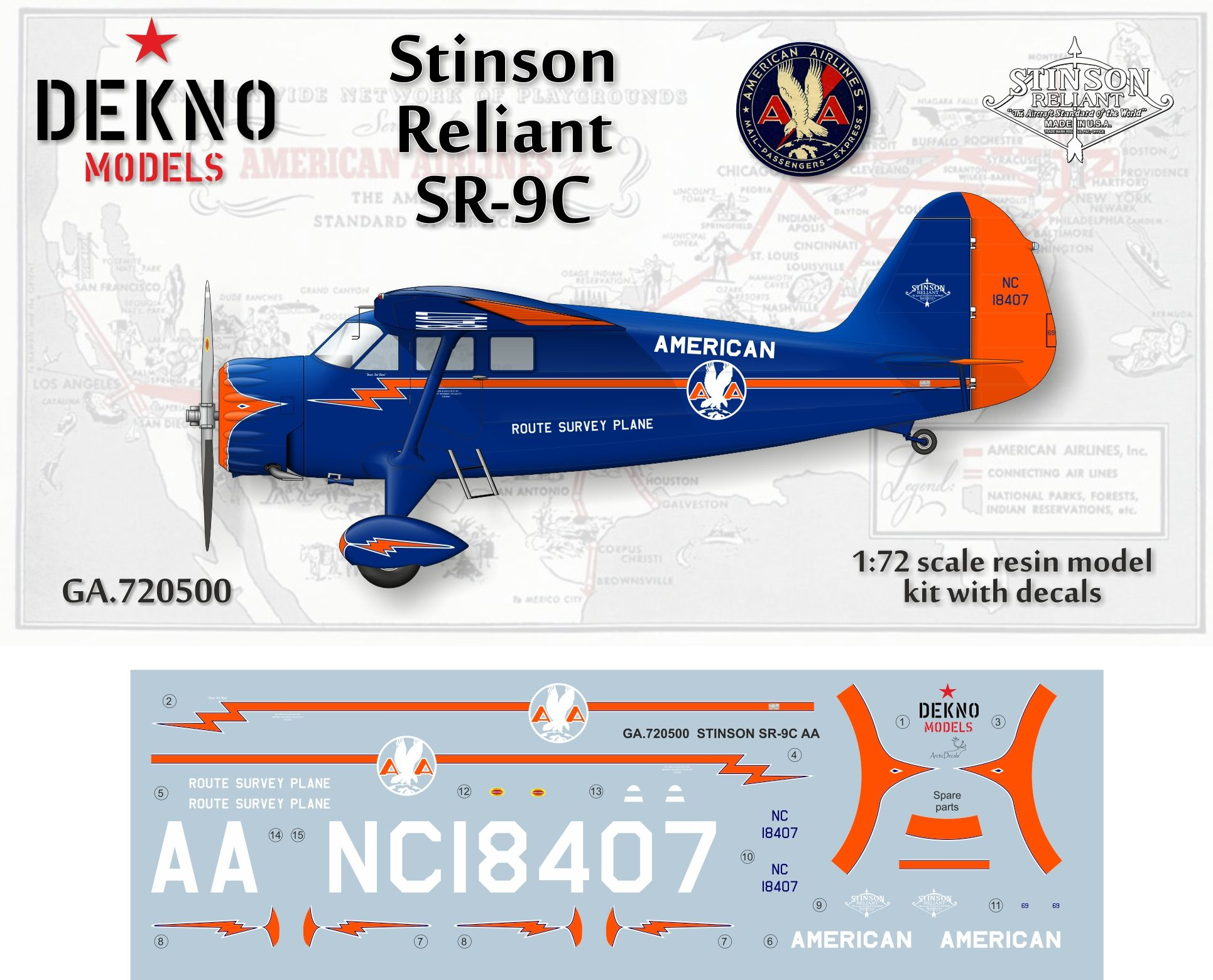 stinson sr 9c reliant scale 1 72 and his decal sheet make by mika