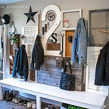 Organize that junk by hanging it up! (with your coats)