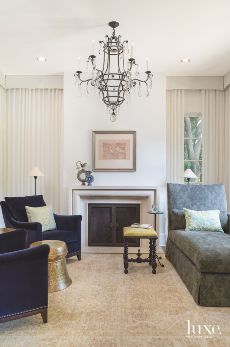 Lounge with Chaise and Chandelier   Furniture ideas   Pinterest ...