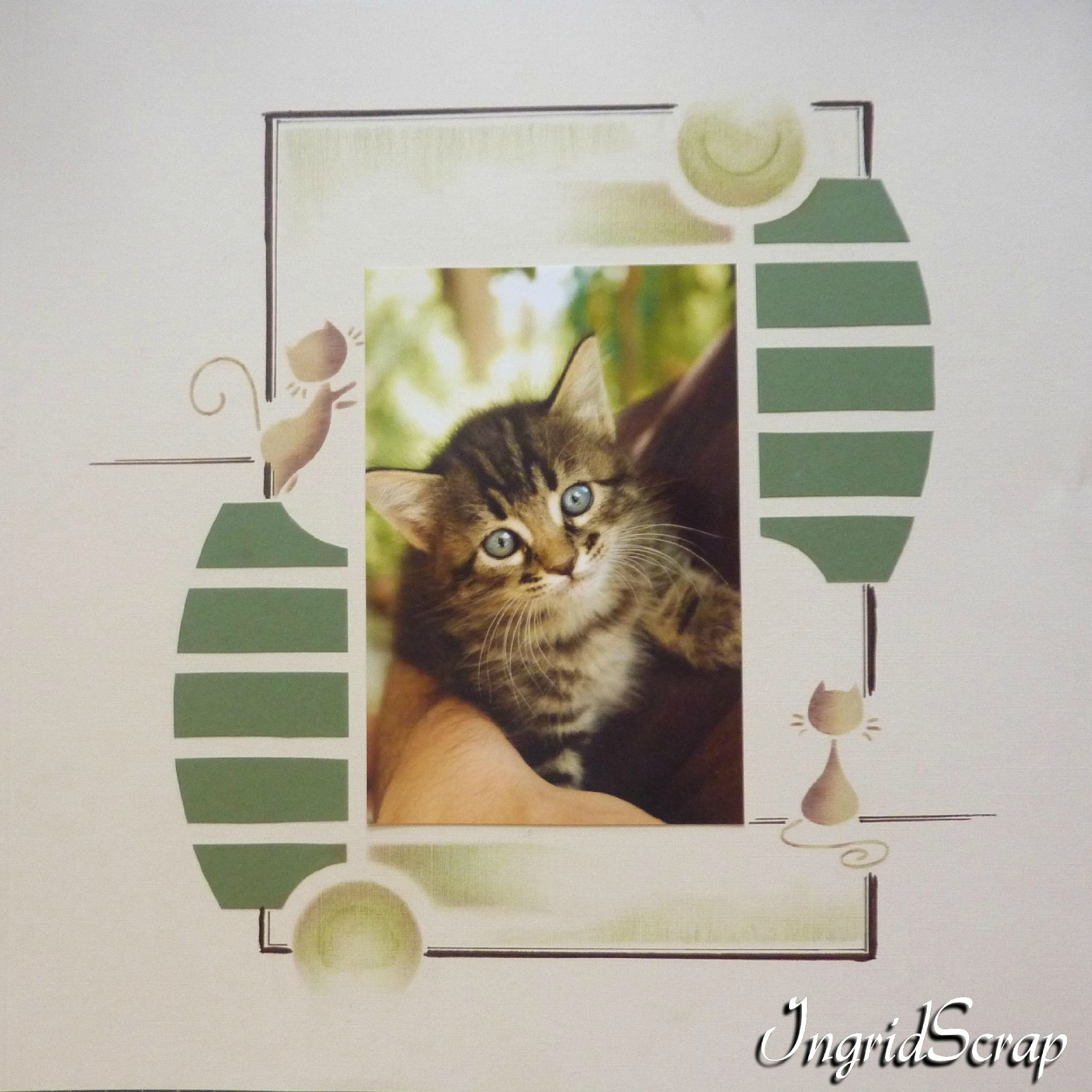 exemple page scrapbooking azza