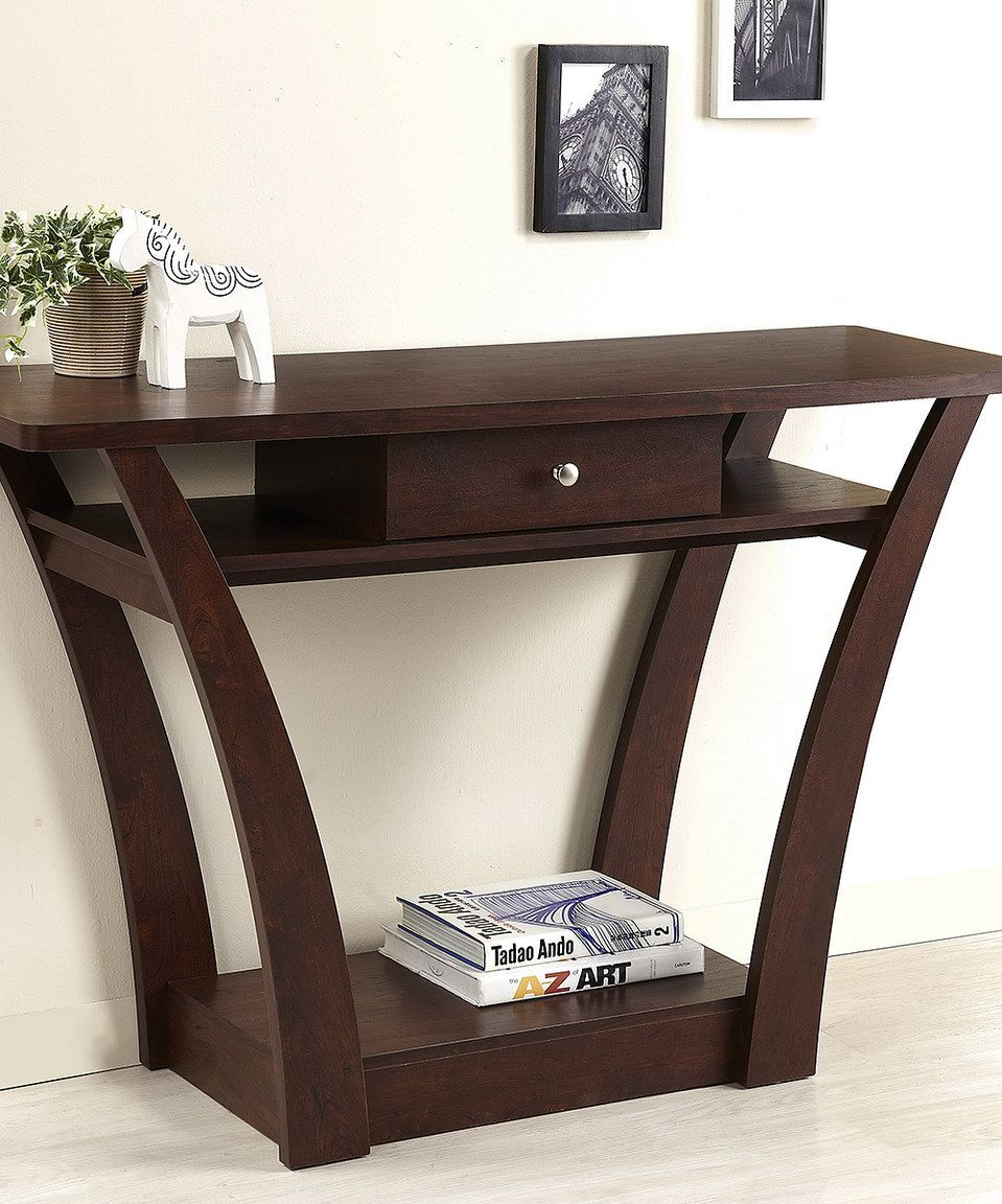 Look What I Found On Zulily Dark Walnut Modern Console Table By Furniture Of America Zulilyfinds Modern Console Tables Furniture Walnut Sofa Table
