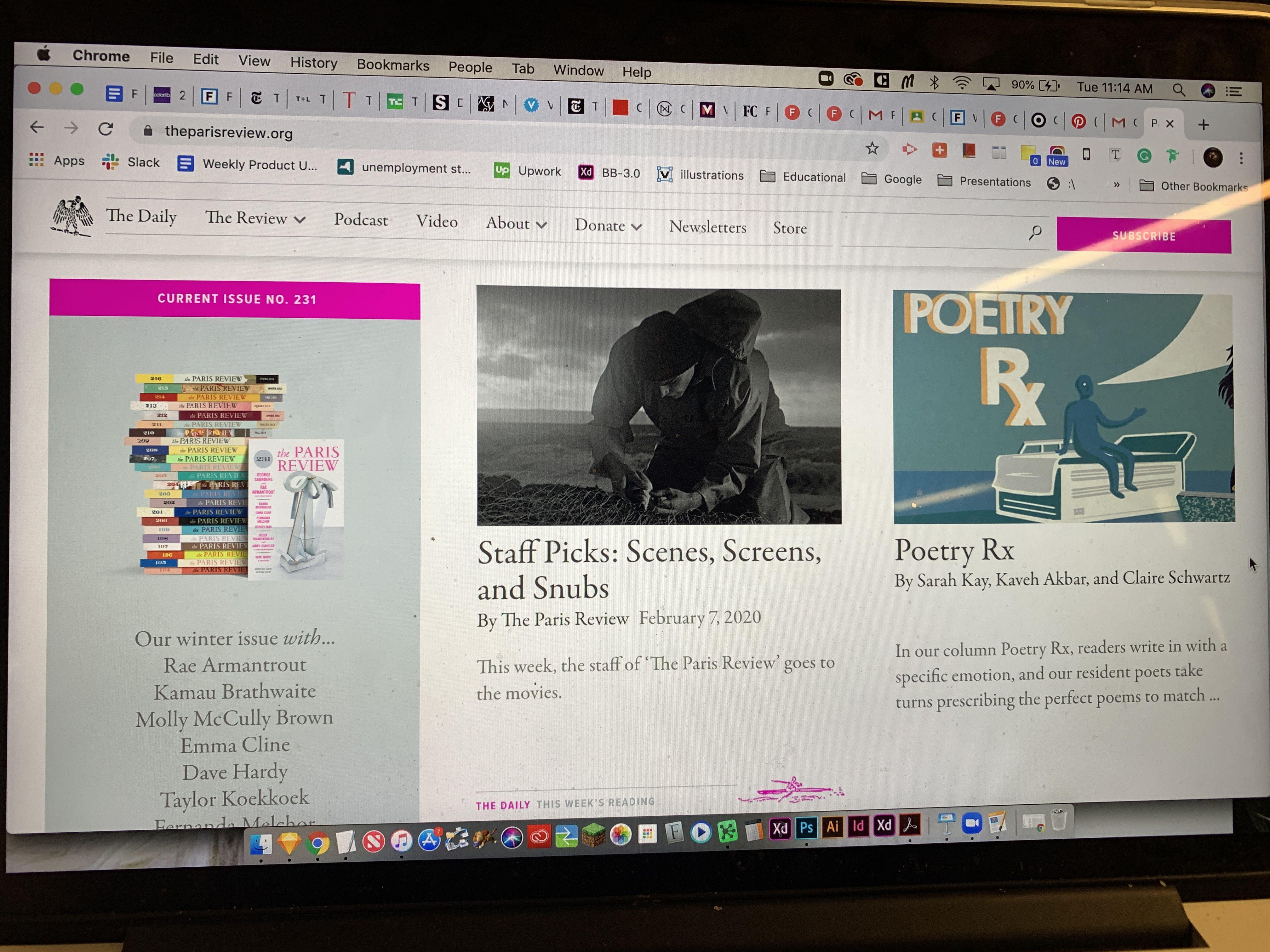 Paris Review 2 in 2020 History bookmarks, Upwork