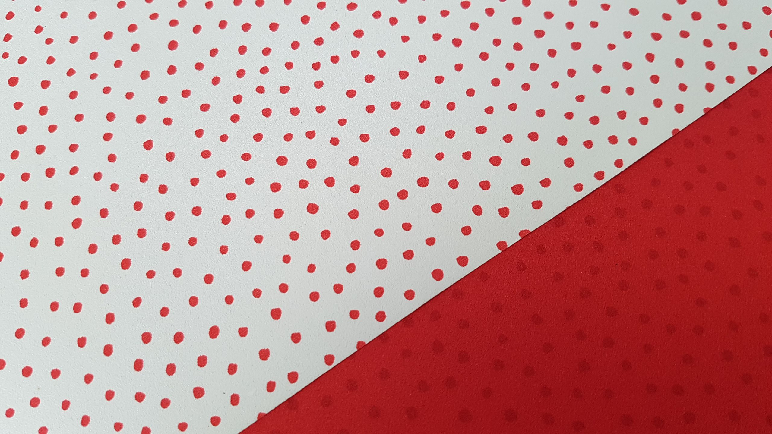 Can you spot me Red and white polka dots wallpaper by Marimekko