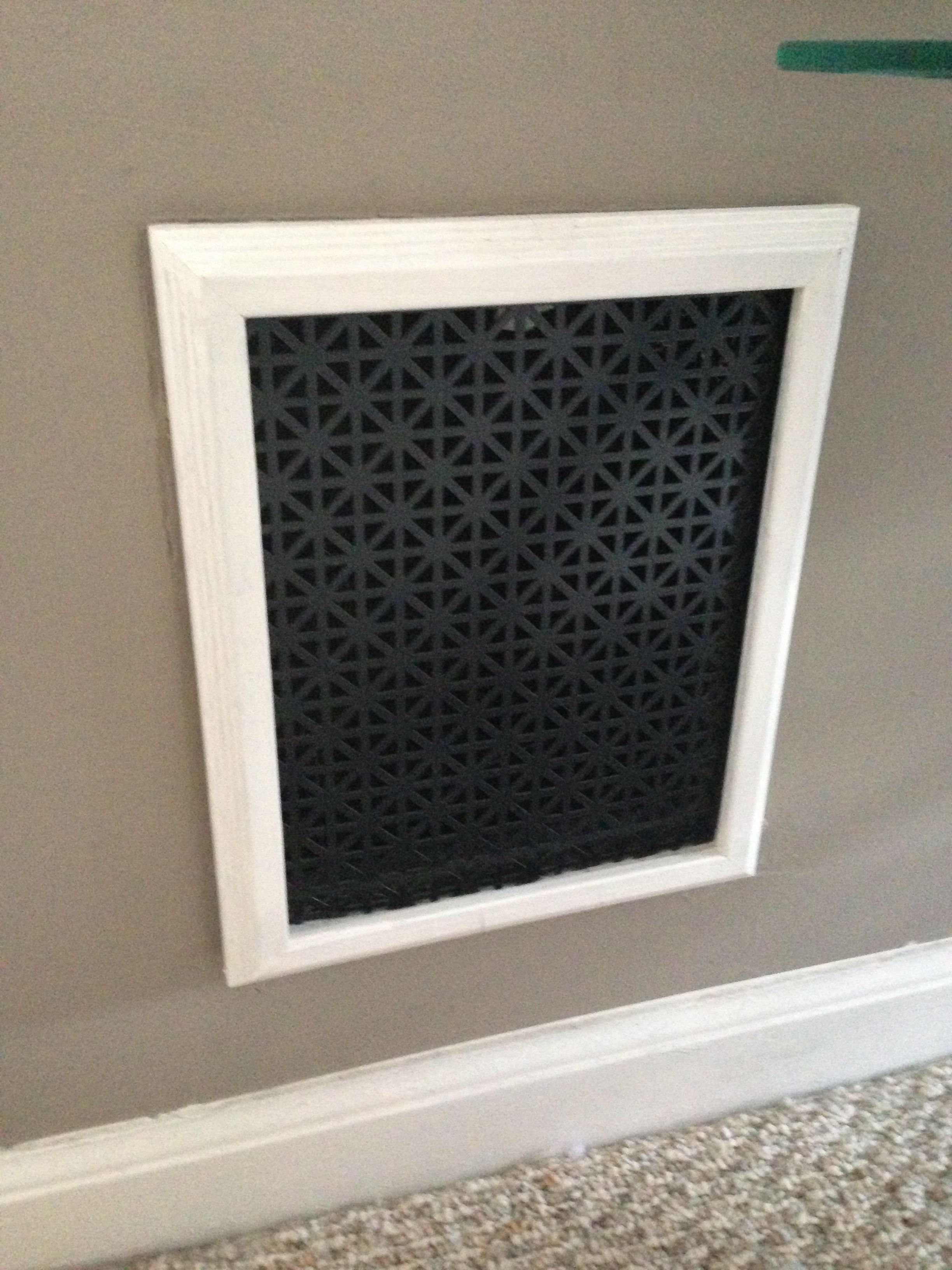 I Replaced My Old Heat Register Covers By Taking An 8x10