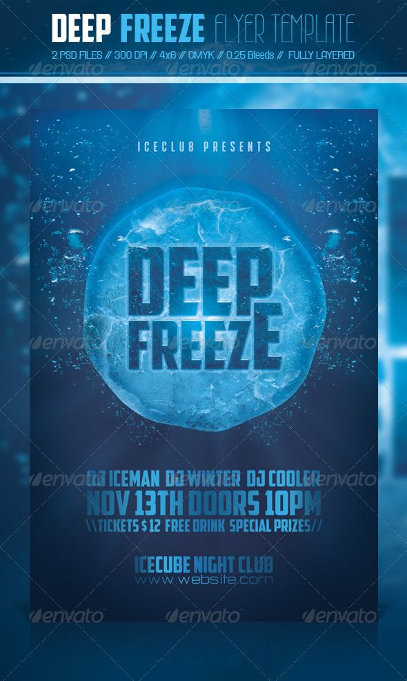 Deep Freeze Flyer Template | Deep Freeze, Flyer Template And Fonts