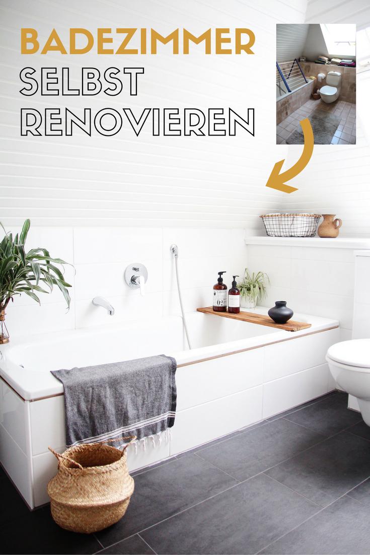 Graue nasszellenfliesen badezimmer selbst renovieren vorhernachher  bath