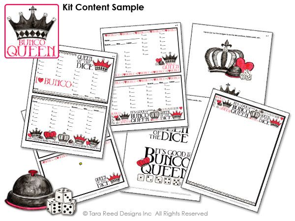 Bunco Queen - free bunco score sheets from Tara Reed Designs Great - sample football score sheet