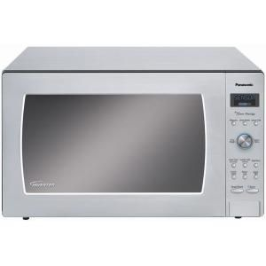 Panasonic Prestige Countertop Built In 2 2 Cu Ft 1250w Microwave Oven In Stainless Steel Nnsd997s At Stainless Steel Microwave Microwave Microwave In Kitchen