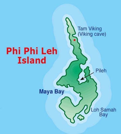 Koh Phi Phi Leh: Koh-phi-phi-leh-map