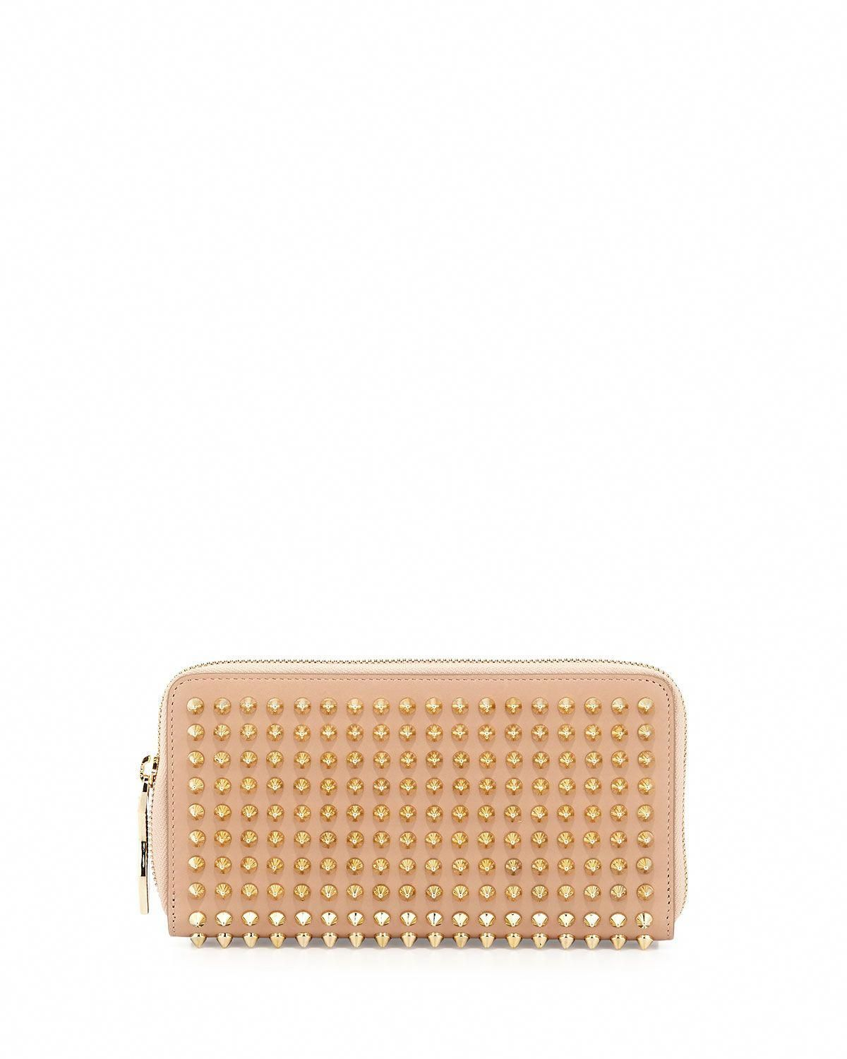 4fbeee26f39 Christian Louboutin Panettone Spike Stud Continental Wallet, Nude ...