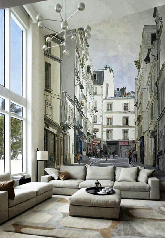 Effektvolle Wand- und Raumgestaltung mit Fototapete Pinterest