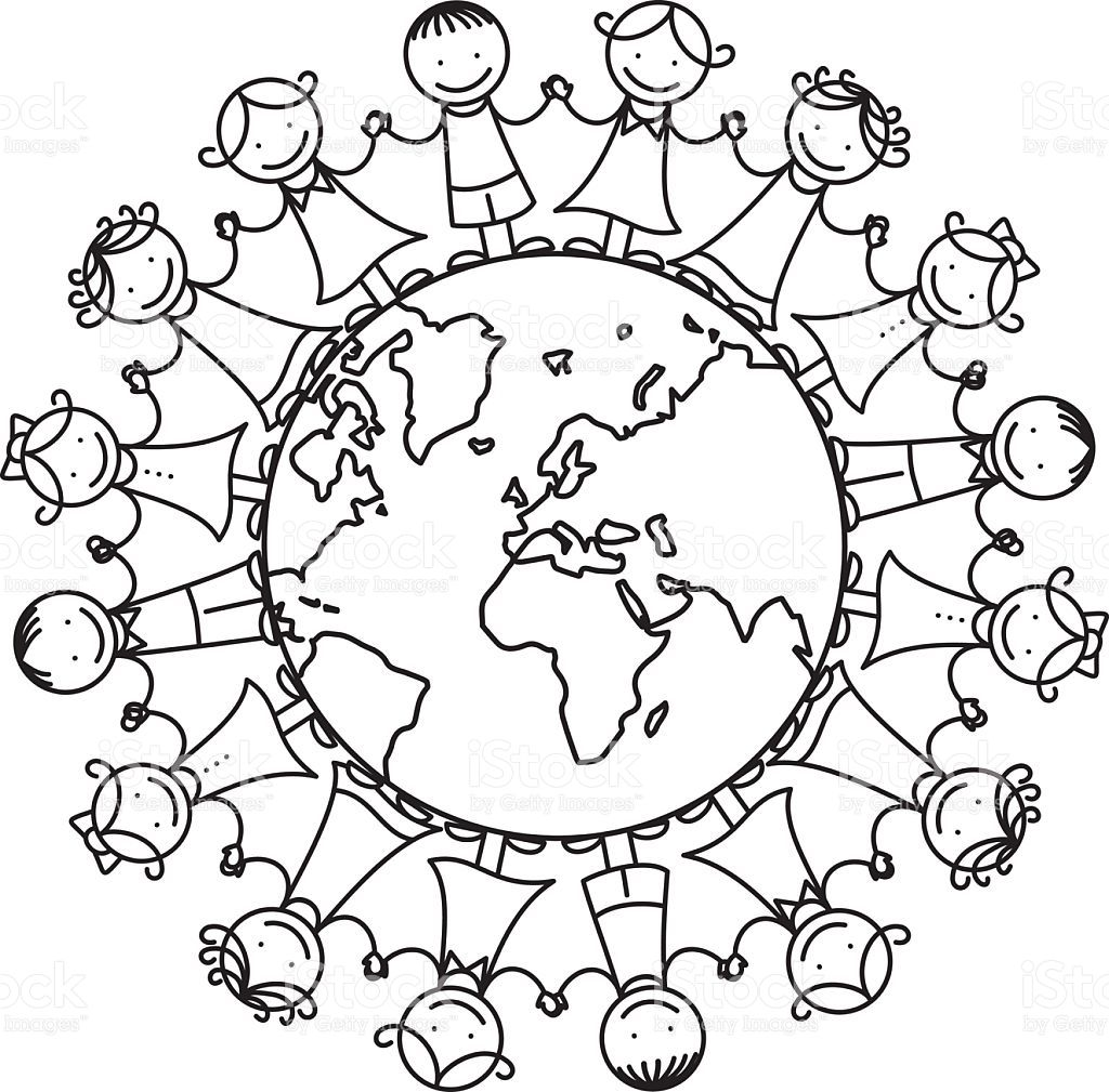 Image Result For It S A Small World Coloring Page Preschool