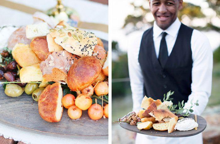 rustic bread platter