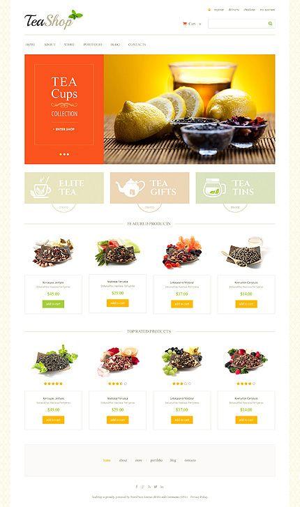 Template 47803 Tea Shop Responsive Jigoshop Theme Tea Shop Tea Website Woocommerce Themes