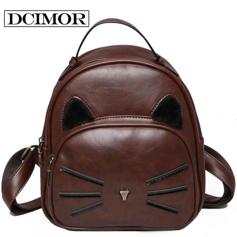 designer leather cat ear whiskers backpack