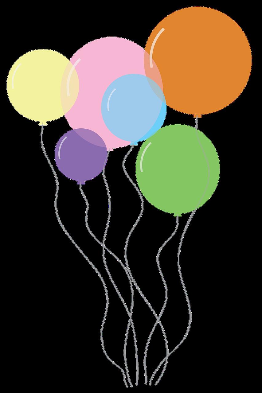 Balloons Party Birthday Celebration Decoration Free Photo From Needpix Com Pastel Balloons Balloon Clipart Balloons