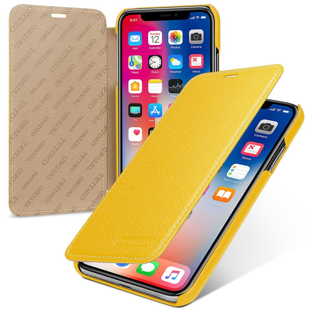 Details About Tetded Premium Leather Case For Apple Iphone Xr