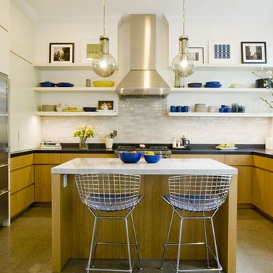 Awesome Kitchen Design with Shelves Instead Of Cabinets