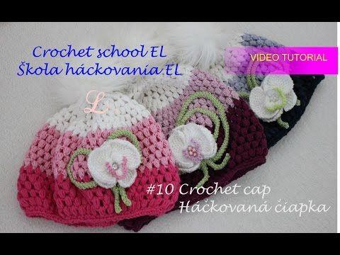 Video tutorial and crochet scheme how to crochet cap.