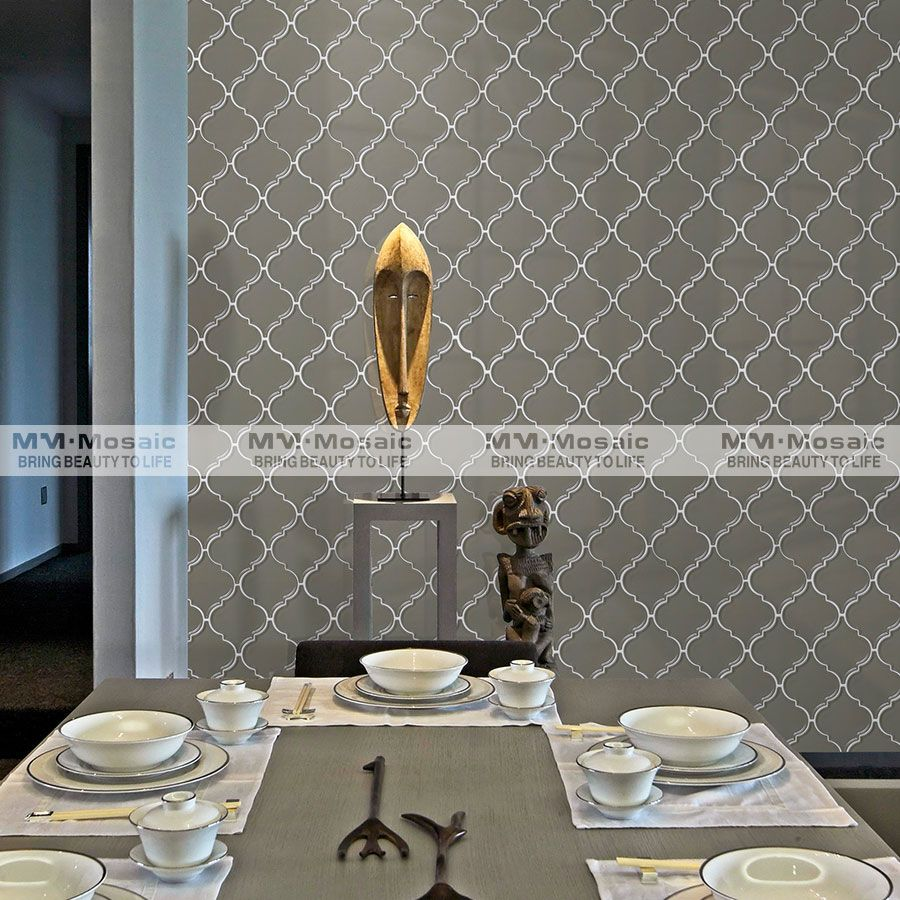 Wall Decoration Tiles Entrancing Mosaic #tile Grey Always Makes Elegance Use The Lantern Tile To Design Ideas