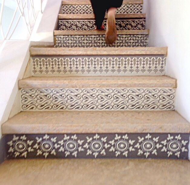 58 Cool Ideas For Decorating Stair Risers: Pin By Michelle On Design In 2019