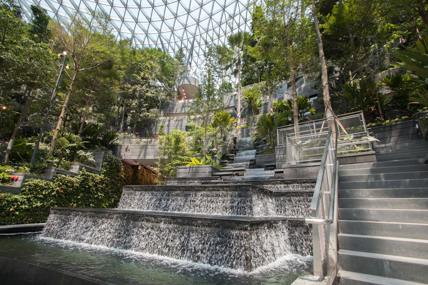 The Newly Opened World S Tallest Indoor Waterfall Commercial