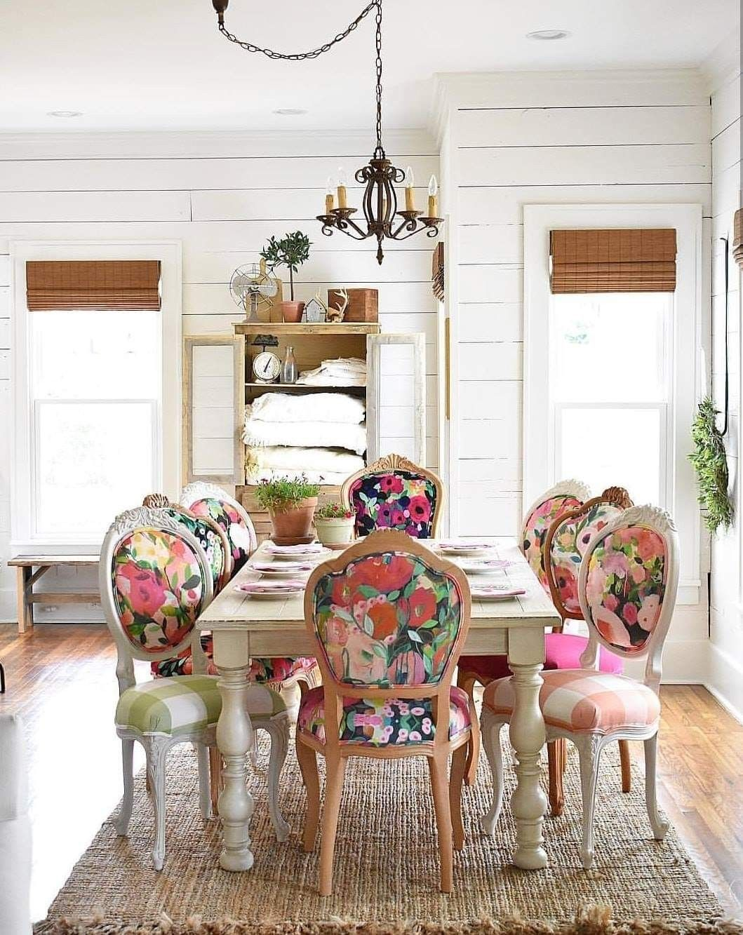 Absolutely Stunning Farmhouse Style Home With Floral Upholstered
