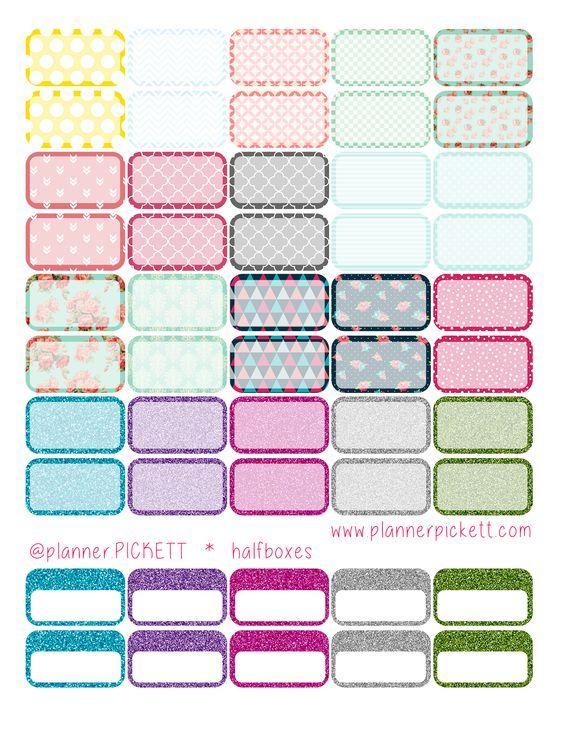 @planner.PICKETT: Free Pretty Half Boxes Sticker ...