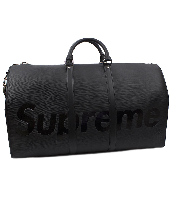 Supreme Keepall Bandouliere Epi 55 Black Duffle Bag