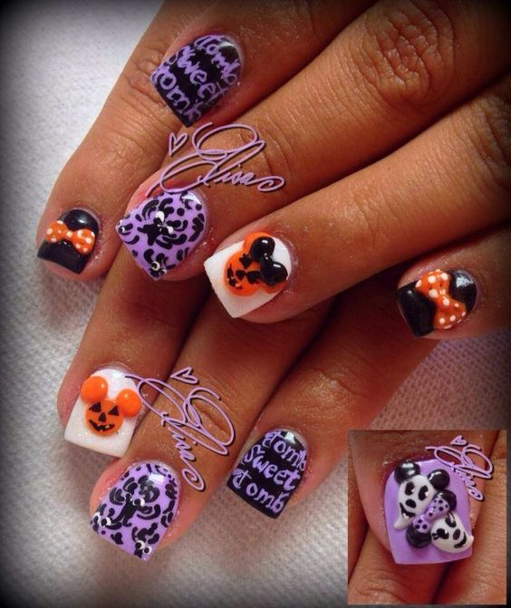 60 Easy Halloween Nail Art Designs For October | Halloween ...