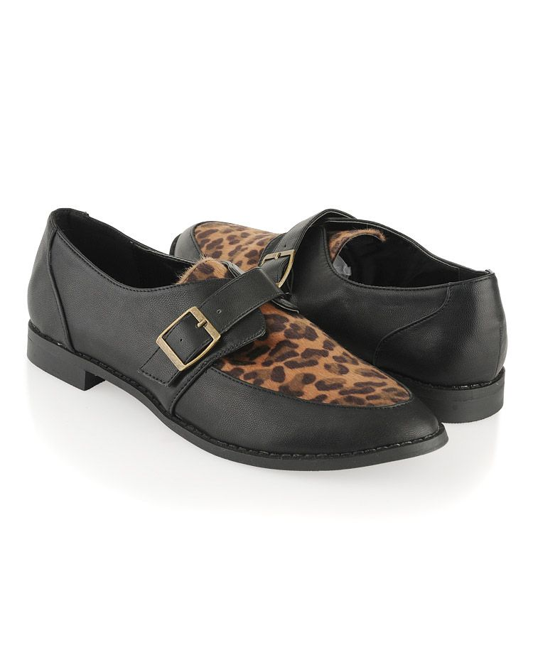 Buckled Leopard Oxfords