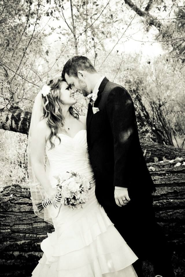 Very romantic... you never go wrong with black and white