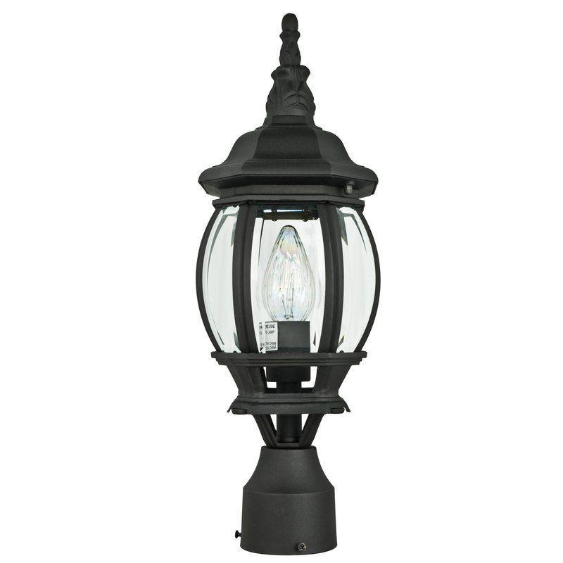 "Sunset Lighting F7896 1 Light 18.5"" Height Outdoor Post Light Black Outdoor Lighting Post Lights Post Lights"
