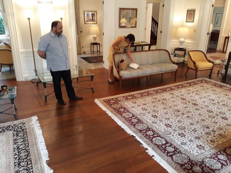 9' 1 x 12' 1 Handknotted Pakistani Wool Gabbeh Carpet Rug