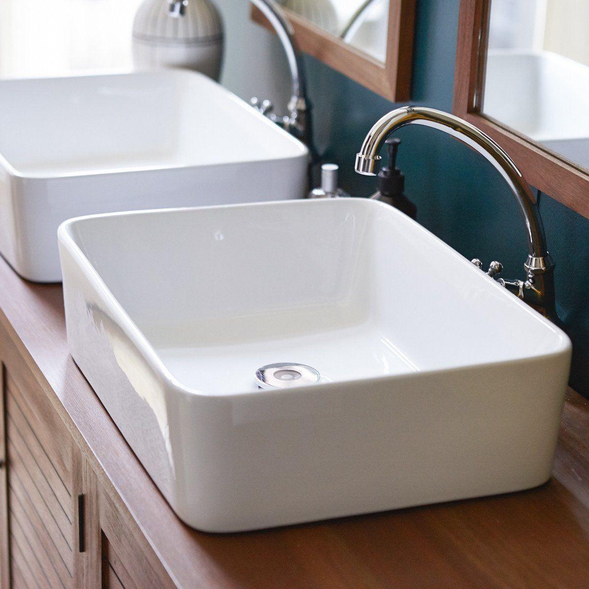 Vasque De Salle De Bain En Céramique Alexi - Taille : Taille ...