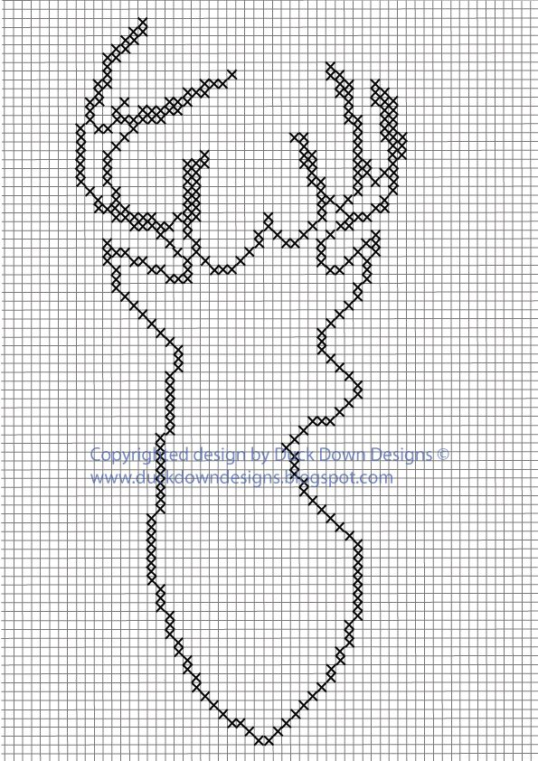 New /& Exclusive Cross Stitch Kit Stag 01